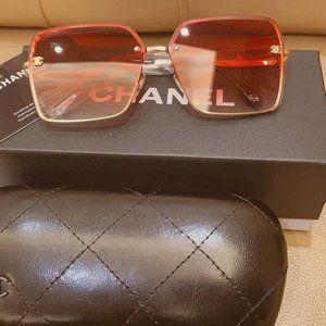 CHANEL Oversized Square Metal Sunglasses~